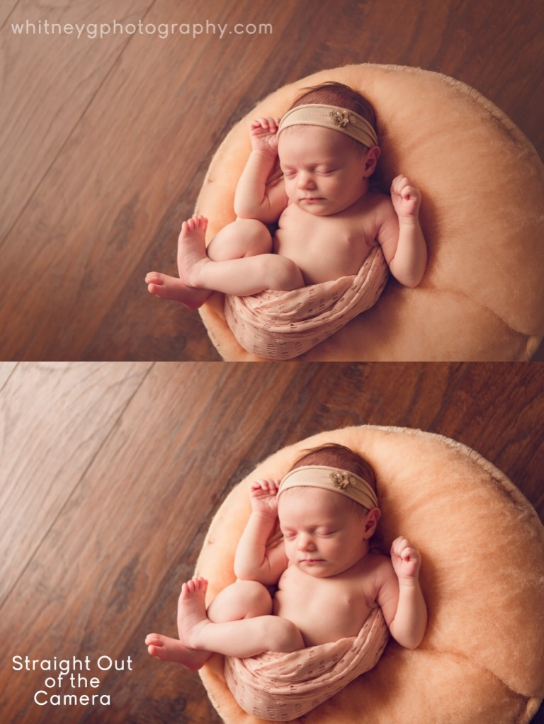 Boston Newborn Photographer - before and after photoshop editing